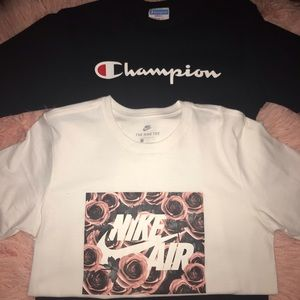 Selling Never Worn Champion & Nike Shirt Together